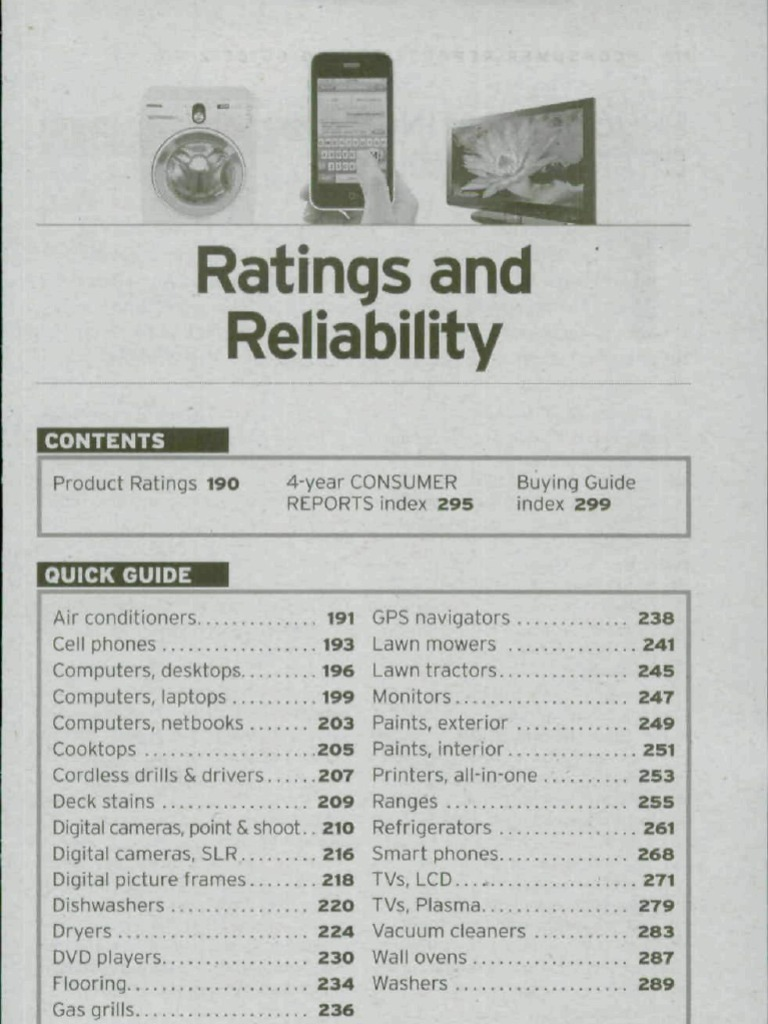 Consumer Reports BuyingGuide 2010 - All Product Ratings | Laptop | Digital  Single Lens Reflex Camera