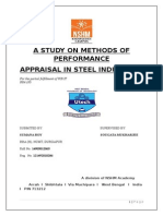 STUDY ON METHODS OF PERFORMANCE APPRISAL.docx