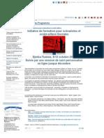 Formation Socrates pour scénaristes et script editors - Activités du Programme - Euromed Audiovisuel