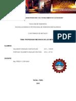 Propiedades Mecanicas de Los Metales Fain - Presentar