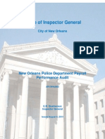 New Orleans Police Department Payroll Performance Audit