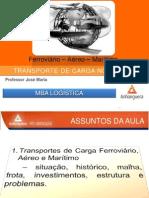 1_Transporte de Cargas No Brasil – Ferroviário – Aéreo – Marítimo