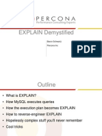 EXPLAIN Demystified Presentation