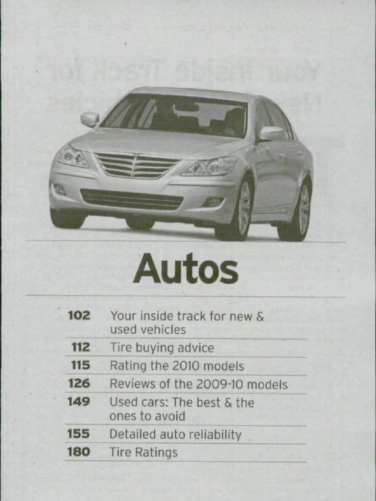Consumer reports buying guide 2010 auto tire airbag fandeluxe Choice Image