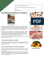 Colágeno - Los Alimentos Más Ricos en Colágeno