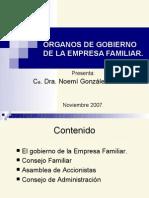 Órganos de Gobierno de La Empresa Familiar.