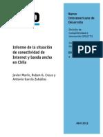 Informe de La Situacion de Conectividad de Internet y Banda Ancha en Chile