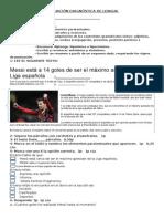 EVALUACIÓN DIAGNÓSTICA LENGUA 5° 2014