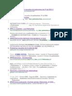 Jercicios y Problemas Resueltos de Polinomios de 3º de ESO II