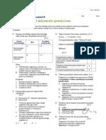 Biotechnologia i inżyniera genetyczna - test - grupa A