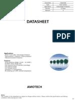 Varistores - Datasheet