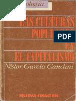 Las Culturas Populares en El Capitalismo