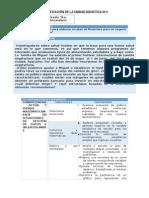 MAT - Planificación Unidad 4 - 5to Grado v2