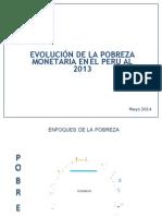 Evolucion de La Pobreza 2013