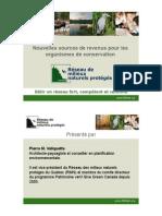 Nouvelles Sources de Financement pour les organismes de conservation (Patrimoine vert)