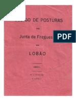 (1930) Código de Posturas da Junta de Freguesia de Lobão