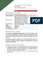 Programa Investigacion de Operaciones i 2015