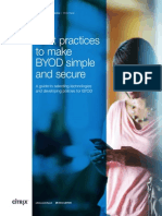 Best Practices to Make BYOD Simple and Secure C_ct34