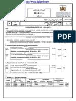 تصحيح الإمتحان الوطني الموحد للبكالوريا الدورة العادية 2010 مادة المحاسبة والرياضيات المالية شعبة علوم التدبير المحاسباتي