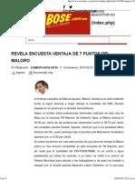 23-05-15 Revela Encuesta Ventaja de 7 Puntos Del Maloro