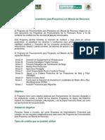 Programa de Financiamento Para Proyectos Con Mezcla de Recursos