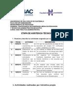 Etapa de Asistencia Administrativa 2015 Pame Listo