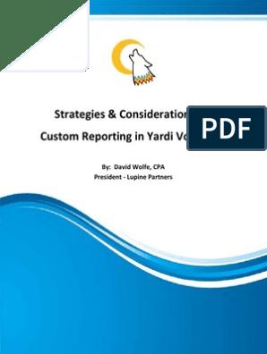 Yardi | Sql | Specification (Technical Standard)