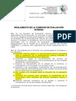 Reglamenteo de La Comisión de Evaluación y Acreditación Borrador