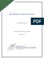 Ben Bernanke Theory and Practice WP