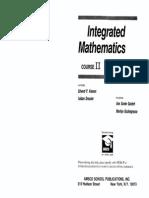Integrated Mathematics Course 2 Text