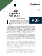 La Jornada_ El Juego Geopolítico Ruso-chino