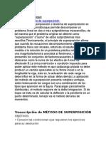 Metodo de Superpocicion