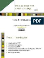 Desarrollo de sitios webcon PHP y MySQL