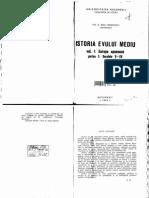 Radu Manolescu Istoria Evului Mediu Vol I Partea I