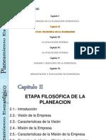ETAPA FILOSOFICA DE LA PLANEACION ESTRATEGICA