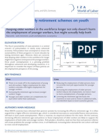 Effect of Early Retirement Schemes on Youth Employment