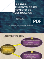 LA IDEA EL NACIMIENTO DE UN PROYECTO DE INVEST, TEMA III.ppt