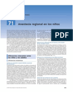 Anestesia Regional Pediatrica