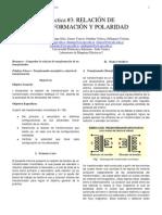 RELACIÓN DE TRANSFORMACIÓN Y POLARIDAD