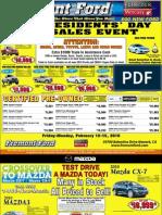 Presidents Day Sales Event at Fremont Ford & Fremont Mazda