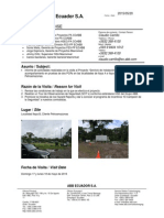 Informe de Visita HSE Proyecto PCR´s PAM