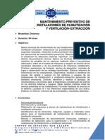 Mantenimieto Preventivo de Instalaciones de Climatizacion y Ventilacion-extraccion