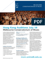 HK Music Auditions - University of Melbourne