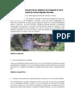 Propuesta de Aplicación de Los Objetivos de La Agenda 21 de La Comunidad de Colonia Aguilón Guzmán