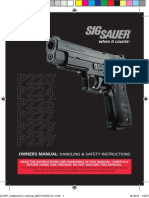 SIG Sauer P220, P224, P226, P227, P229, and P239 Pistol Owners Manual