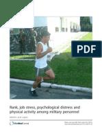 Stres y Actividad Física Militar