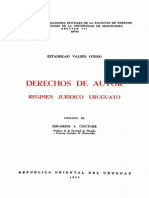 Derechos de Autor. Regimen Jurídico Uruguayo.