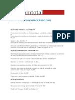 Prazos - Processos Civil Penal.