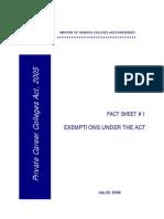 Exemptions Undre the Act (Factsheet1)