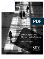 SANE's Aged Care Mental Health Training Evaluation